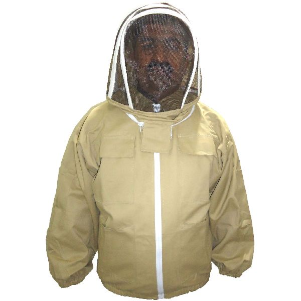 Tan Beekeeping Protection Jacket / Beekeepers Safety Jacket / Khaki Bee Sting Safety Jacket, Bee Protection Jacket