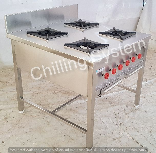 4 Burner Continental Cooking range