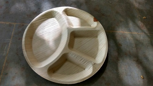 Areca Leaf 4 Partition Plate