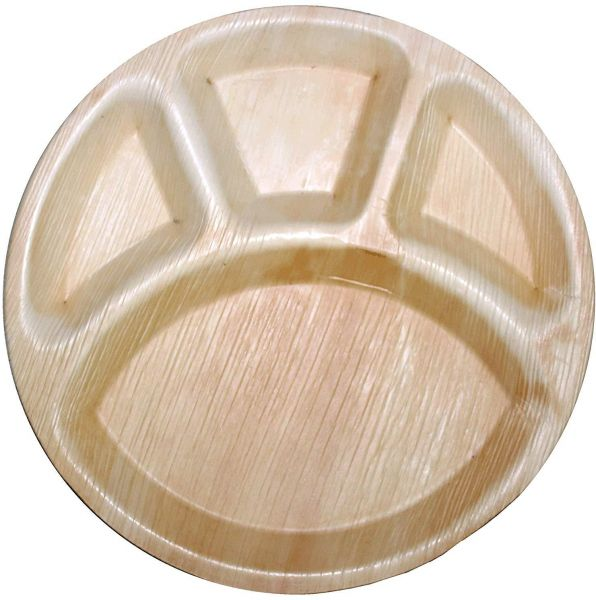 Disposable Areca Leaf Partition Plate