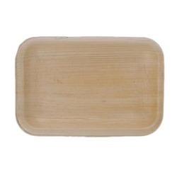 Rectangular Areca Leaf Plain Plate