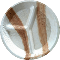 Round Areca Partition Plate