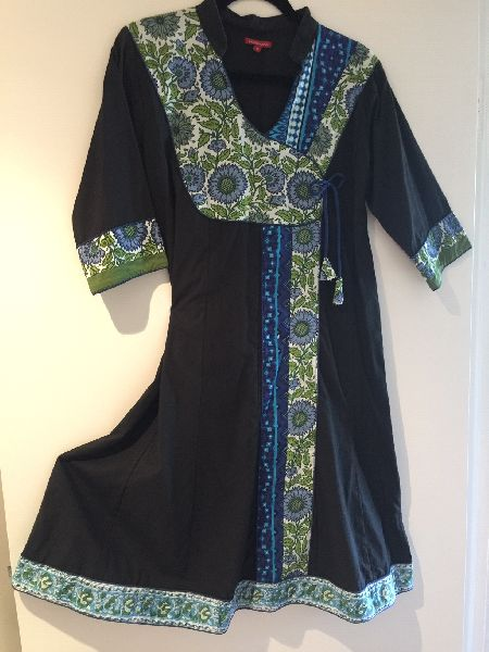 Ladies Designer Black Kaftan Dress