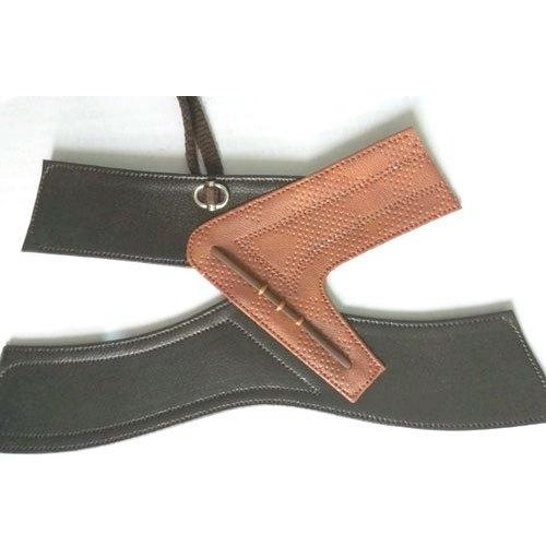 Mens Leather Plain Slipper Strap