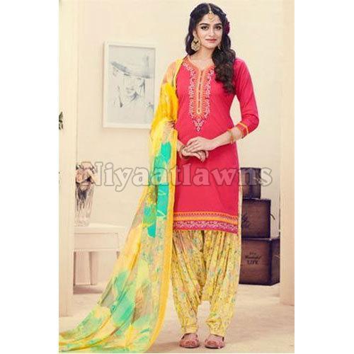 Ladies Punjabi Semi Stitched Ladies Suit