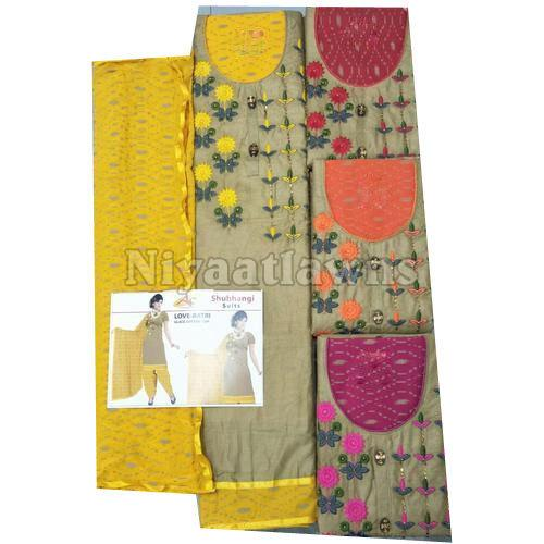Ladies Regular Wear Unstitched Suit