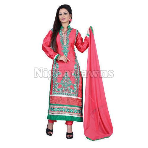 Ladies Stylish Unstitched Suit