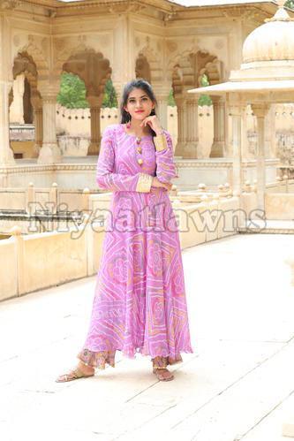 Lahariya Georget Anarkali Pattern Cotton Inner Kurti