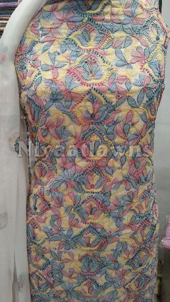 Stylish Printed Chiffon Unstitched Suit