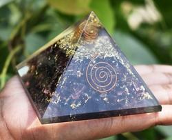 Garnet Orgonite Pyramid