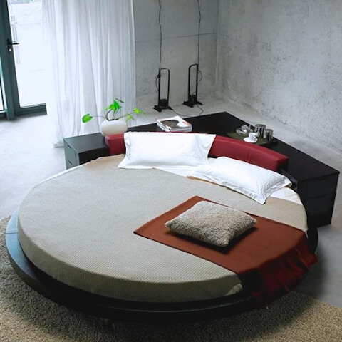 Round Single Bed Mattress