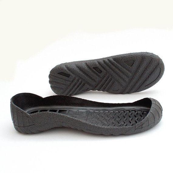 Black PU Shoe Sole