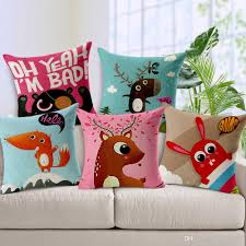 Cartoon Print Pillow Covers