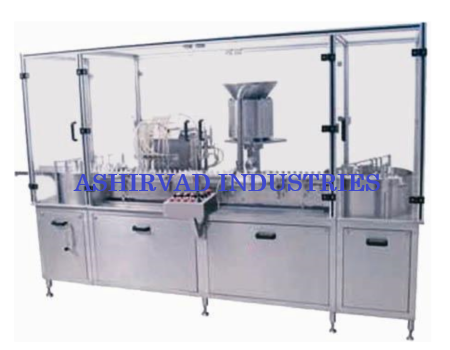 Automatic Injectable Liquid Filling Machine with Rubber Stoppering Unit