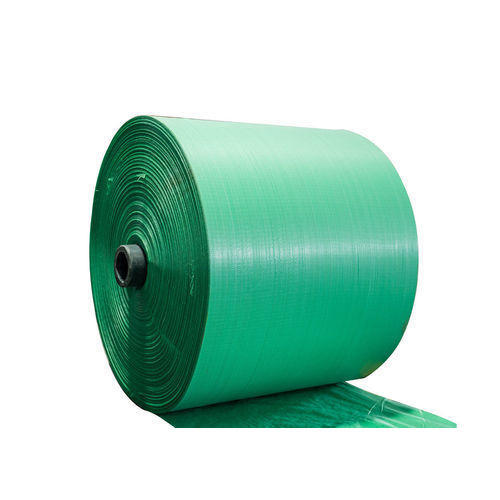 Green PP Woven Fabric Roll