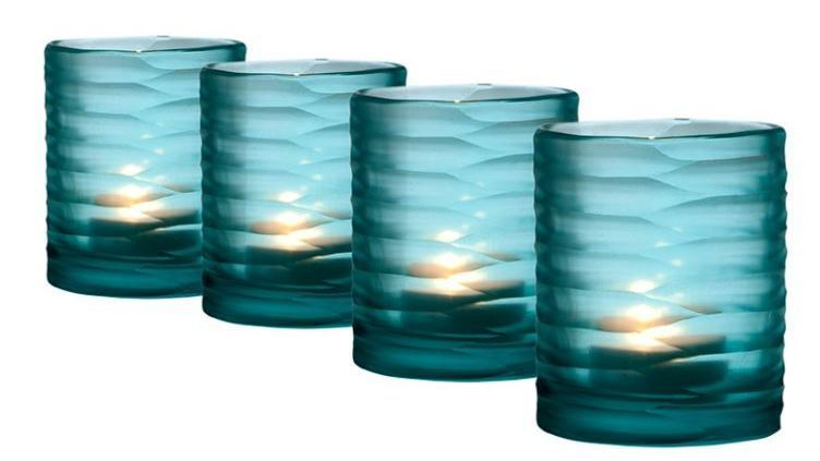 Colored Glass Candle Votive 01