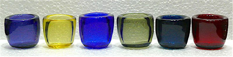 Colored Glass Candle Votive 02