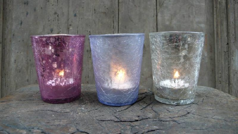 Colored Glass Candle Votive 05