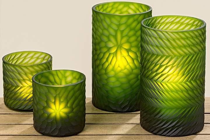 Double Layered Glass Tea Light Holders 01