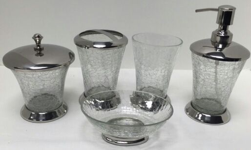 Glass Bathroom Set 04