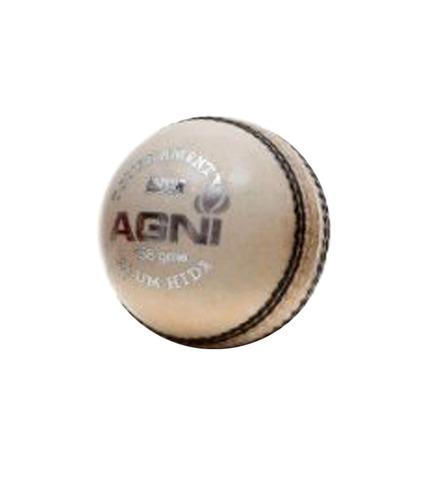 BDM Agni White Cricket Leather Ball