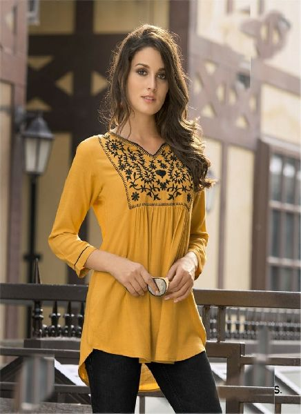Yellow Rayon Top