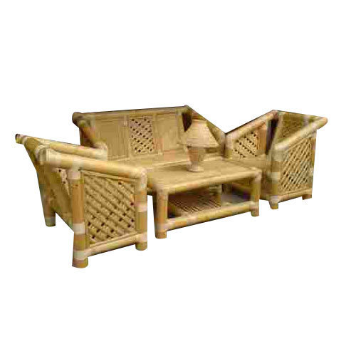 Bamboo Five Seater Sofa Set