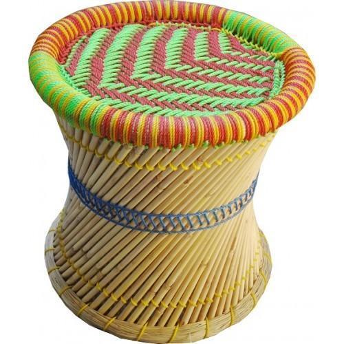 Colored Bamboo Mudda Stool