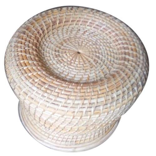 Handmade Round Bamboo Stool