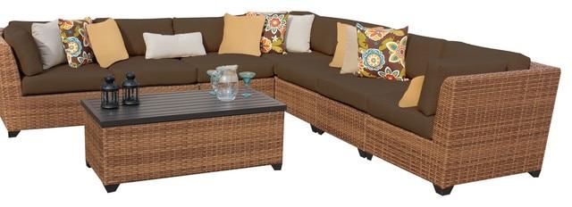 L Shaped Bamboo Sofa Set