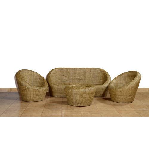 Six Seater Bamboo Sofa Set