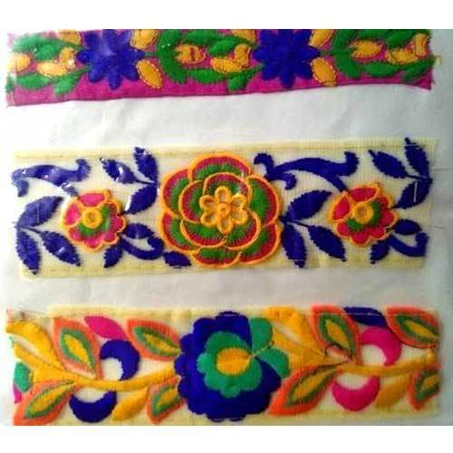 Cotton Embroidered Coloured Lace