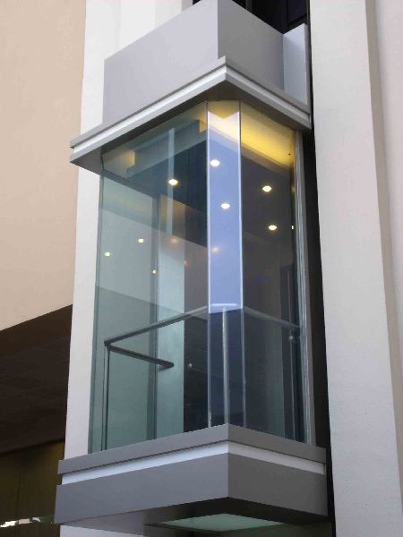3 Glass Panel Capsule Elevator