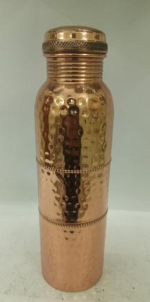 Copper Hammered Water Bottle 02