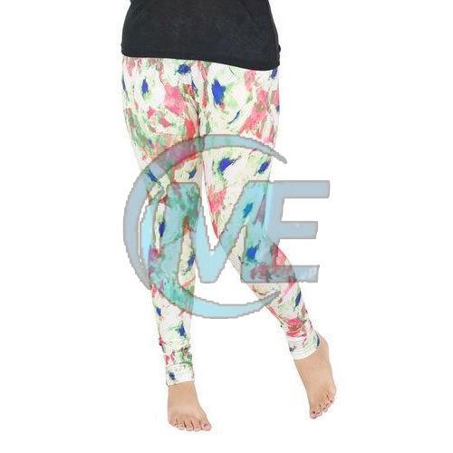 Ladies Printed Cotton Leggings
