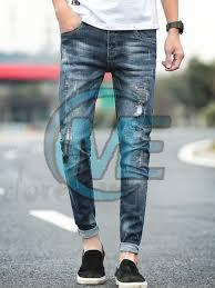 Mens Damaged Jeans