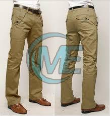 Mens Green Cotton Trouser
