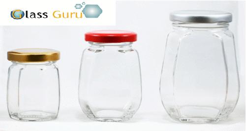 Crown Honey Glass Jar