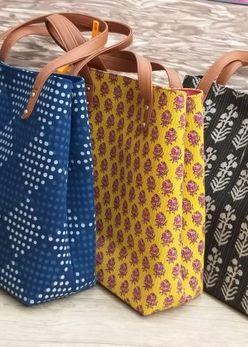Printed Fabric Handbags