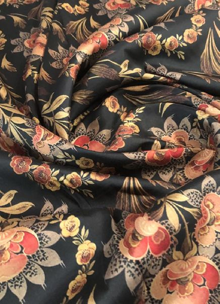 Printed Taffeta Silk Fabric