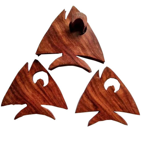 Wooden Fish Shaped Coaster