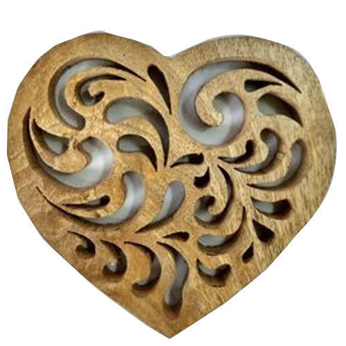 Wooden Heart Shape Trivet