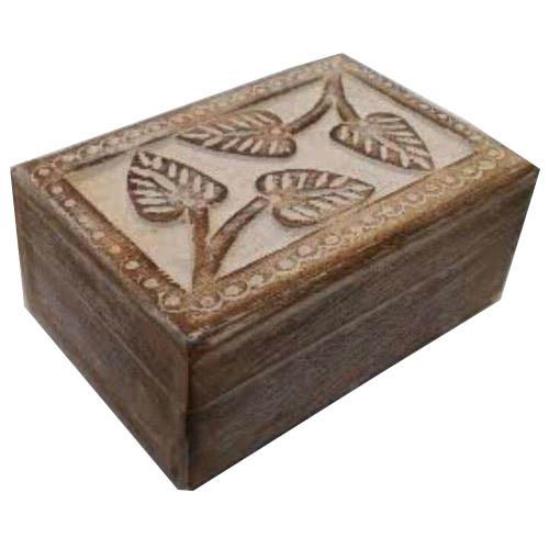 Wooden Leaf Design Box