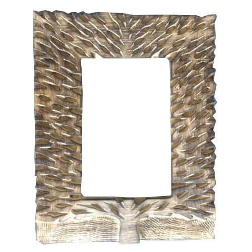 Wooden Leaf Design Mirror Frame