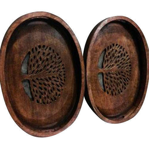 Wooden Oval Shape Tray