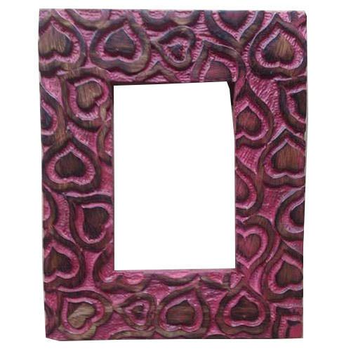 Wooden Purple Heart Design Photo Frame