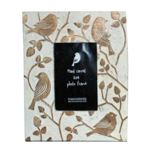 Wooden Sparrow Design Photo Frame