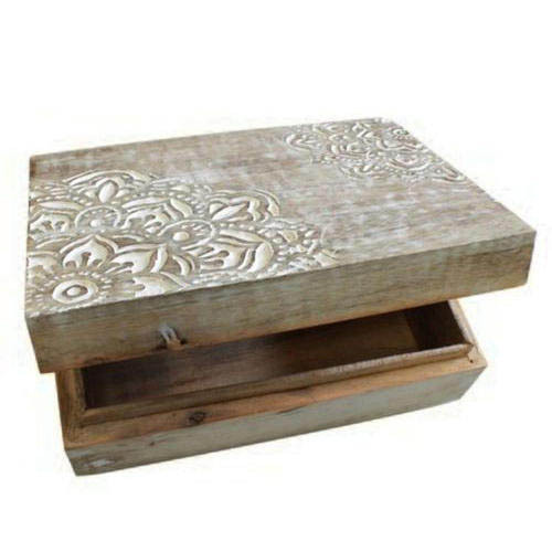 Wooden Square Design Box