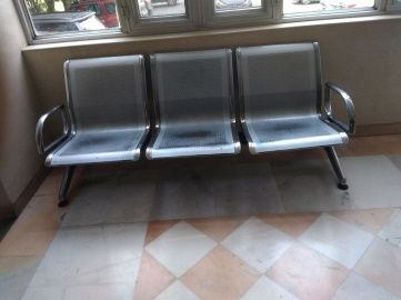Multiple Seater with Chrome Plated Frame