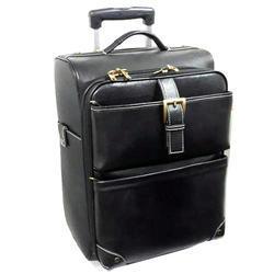 Black Leather Luggage Bag